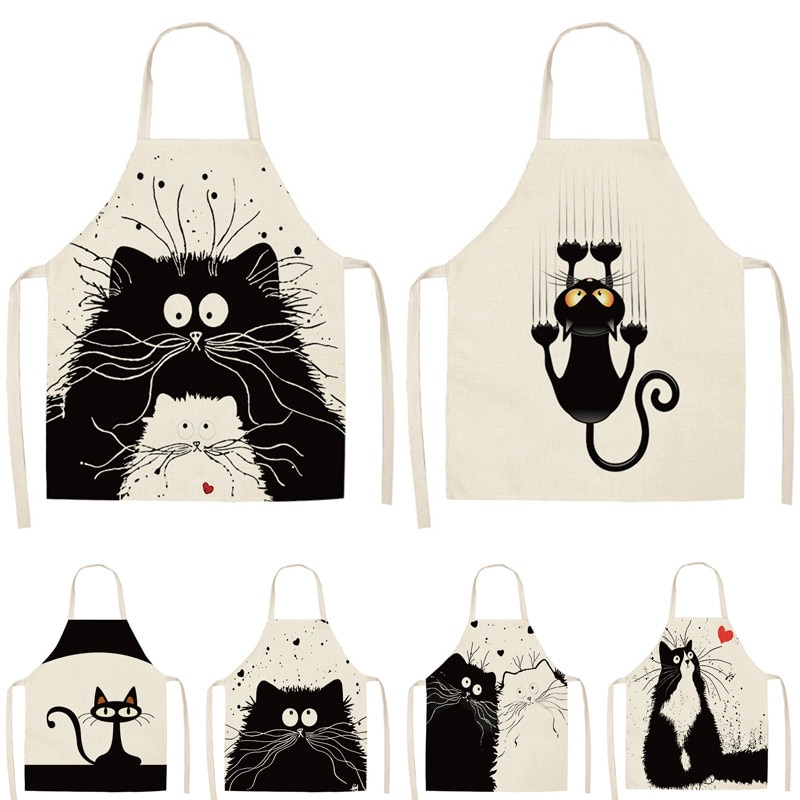 Cat Printed Apron